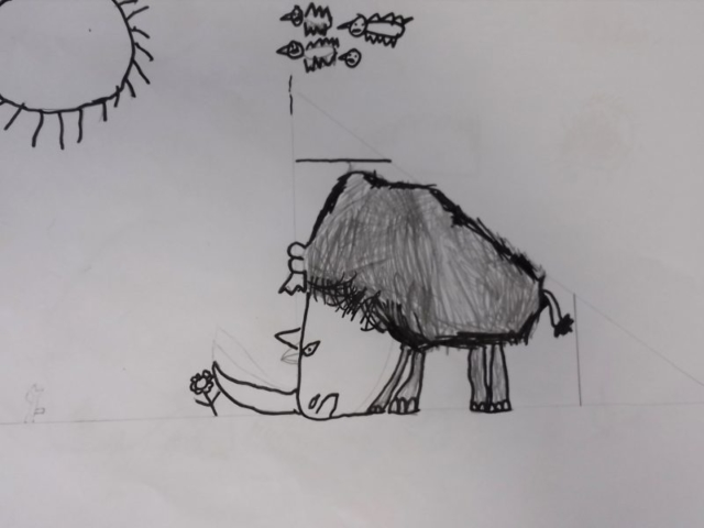 A woolly rhino by a year 3 pupil