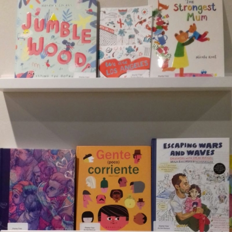 A selection of picture books featured at the World Illustration Awards