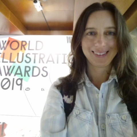 Emily at the World Illustration Awards