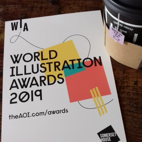 World Illustration Awards leaflet