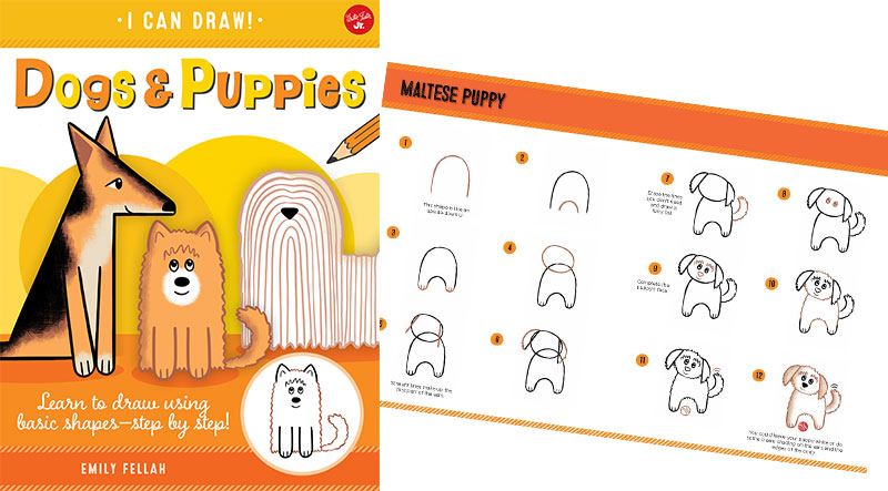 I Can Draw Dogs and Puppies by Emily Fellah