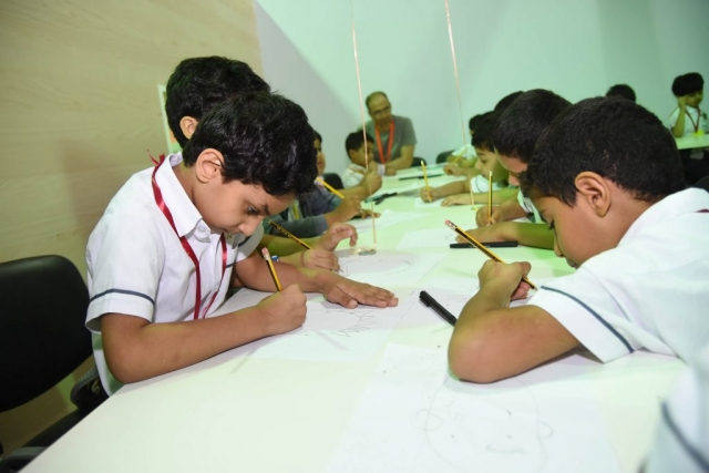 Children learn to draw Big Nate