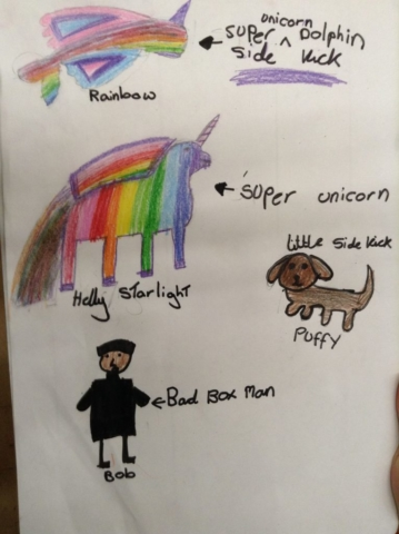 A character sheet created by a pupil.