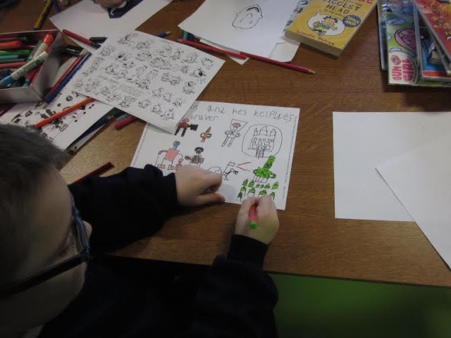 Child creating his own characters